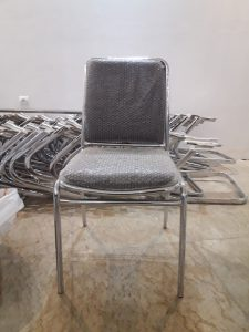 فروش صندلی اداری چرمی با پایه ثابت فلزی